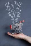 Push cart sale Stock Images