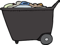 Push Cart with Trash Royalty Free Stock Images