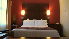 Push Into Contemporary Hotel Room stock video footage