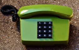 Push dial phone Stock Photo