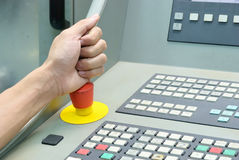Push emergency switch Stock Image