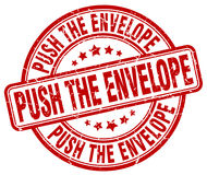 Push the envelope stamp Stock Images