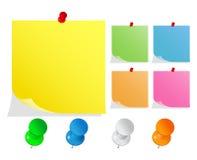 push för anmärkningsstiftstolpe stock illustrationer