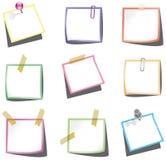 push för stift för paperclip för anmärkningspapper stock illustrationer