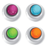 Push floral buttons Stock Photography