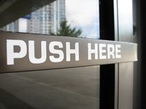 Push here sign Royalty Free Stock Image