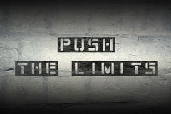Push the limits grad Stock Images