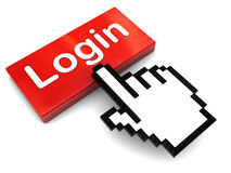 Push login button Royalty Free Stock Photo
