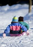 Push Off for Toboggan Ride Stock Images
