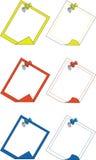 Push pin 03. Push pin color set 03 stock illustration