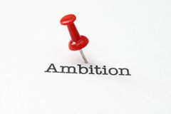 Push pin on ambition Stock Photography