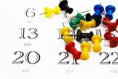 Push pin calendar Royalty Free Stock Photo
