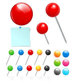 Push Pin Collection Stock Images