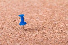 Push Pin on Cork Board Royalty Free Stock Photos