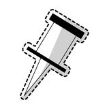 Push pin icon image. Vector illustration design Royalty Free Stock Photo