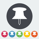 Push pin icon. Royalty Free Stock Images