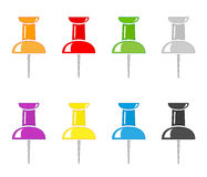Push pin icons Royalty Free Stock Photo