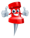 Push pin man Royalty Free Stock Image