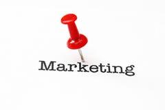 Push pin on marketing. Close of Push pin on marketing royalty free stock photo