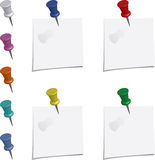 Push-pin with Note Stock Images