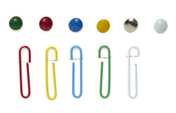 Push pin paper clip Stock Photography