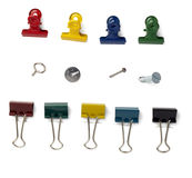 Push pin paper clip Stock Image