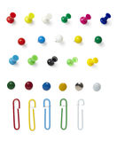 Push Pin Paper Clip Royalty Free Stock Image