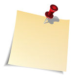 Push pin and paper note Royalty Free Stock Photo