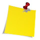 Push pin and paper note Stock Photography