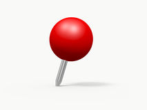 Push Pin. Red sphere shaped push pin, isolated on white background Stock Images