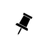 Push pin solid icon, office and school sign Royalty Free Stock Image