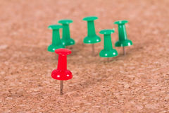 Push Pin Standing Out Royalty Free Stock Image