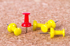 Push Pin Standing Out Stock Images