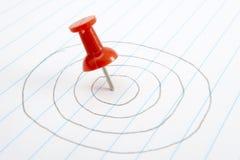 Push pin target 1 Stock Image