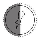 Push pin thumbtack. Icon vector illustration graphic design royalty free illustration