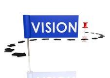 Push pin to vision Royalty Free Stock Image