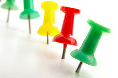 Push pins Stock Images