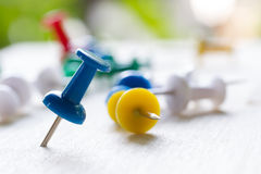 Push pins Stock Photo
