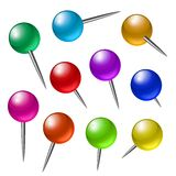 Push pins Royalty Free Stock Photos