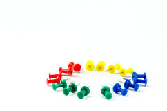Push pins on isolate background Royalty Free Stock Photo