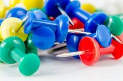 Push pins on isolate background Stock Image