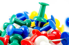 Push pins on isolate background Stock Images