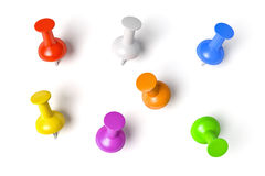Push pins set Stock Image