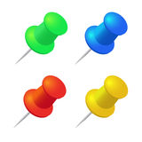 Push pins  set. Stationery object, plastic element Stock Photography