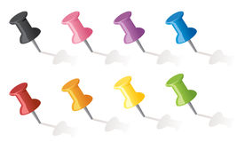 Push Pins Royalty Free Stock Images
