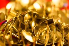 Push pins. A stack of push pins Royalty Free Stock Photo