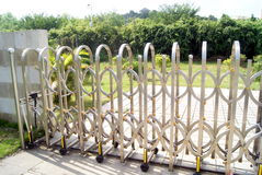 Push-pull gate Royalty Free Stock Image