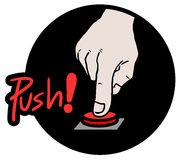 Push red button Royalty Free Stock Images
