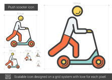 Push scooter line icon. Stock Images