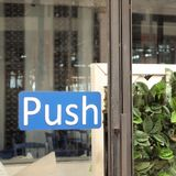 Push sign. Background close up royalty free stock images